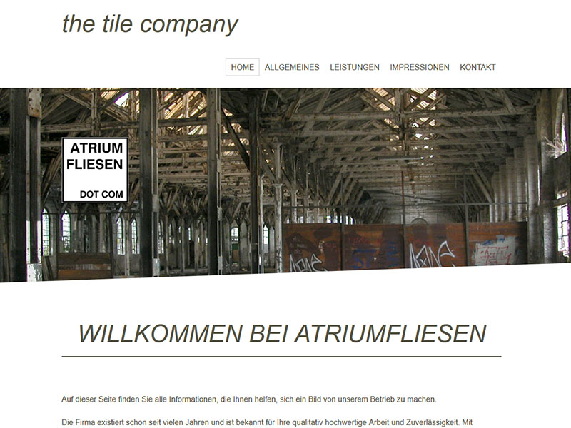 Atrium Fliesen dot COM in Ellingen